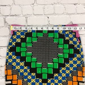 Topshop Skirts - Topshop Multicolored Print Mini Skirt